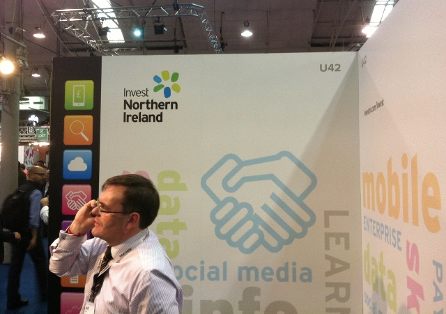 Invest Northern Ireland stand at Web Summit in RDS  Photo: © Michael Fisher