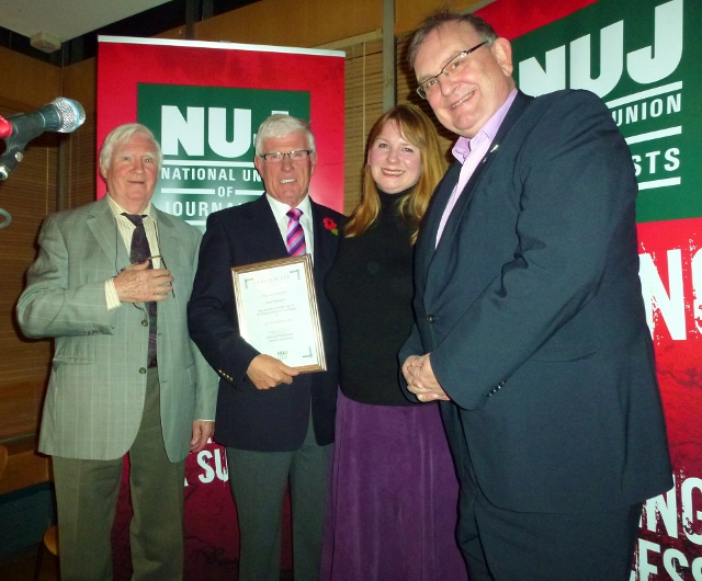 Jim Eadie, Ray Managh, Michelle Stanistreet and Michael Fisher (Belfast & District Branch, NUJ)