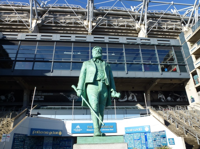 Michael Cusack statue & stand, Croke Park  Photo: © Michael Fisher