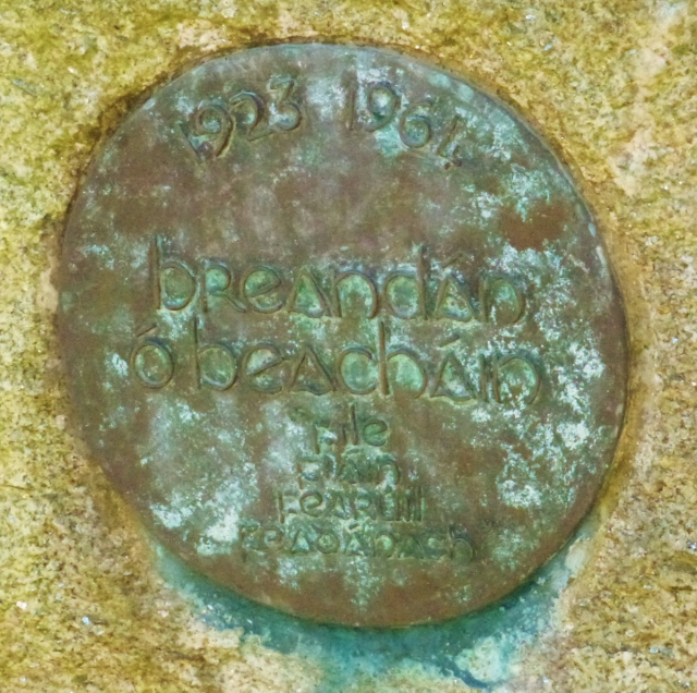 Plaque on Behan's Grave  Photo: © Michael Fisher