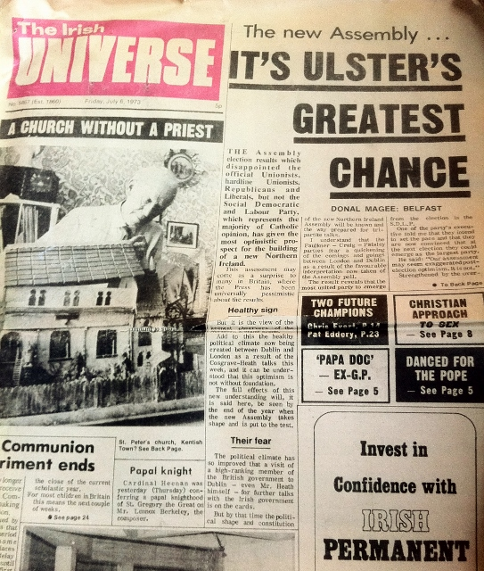 The Irish Universe July 1973  Photo:  © Michael Fisher