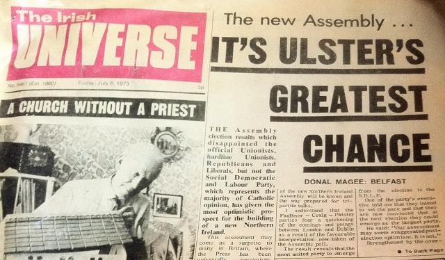 The Irish Universe July 1973  Photo:  © Michael Fisher
