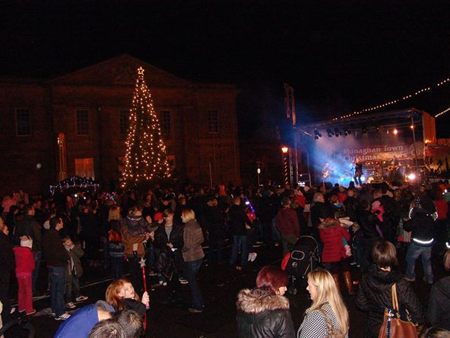 Christmas lights switched on in Monaghan with Rico's Groove  Photo: © Gregory Murphy