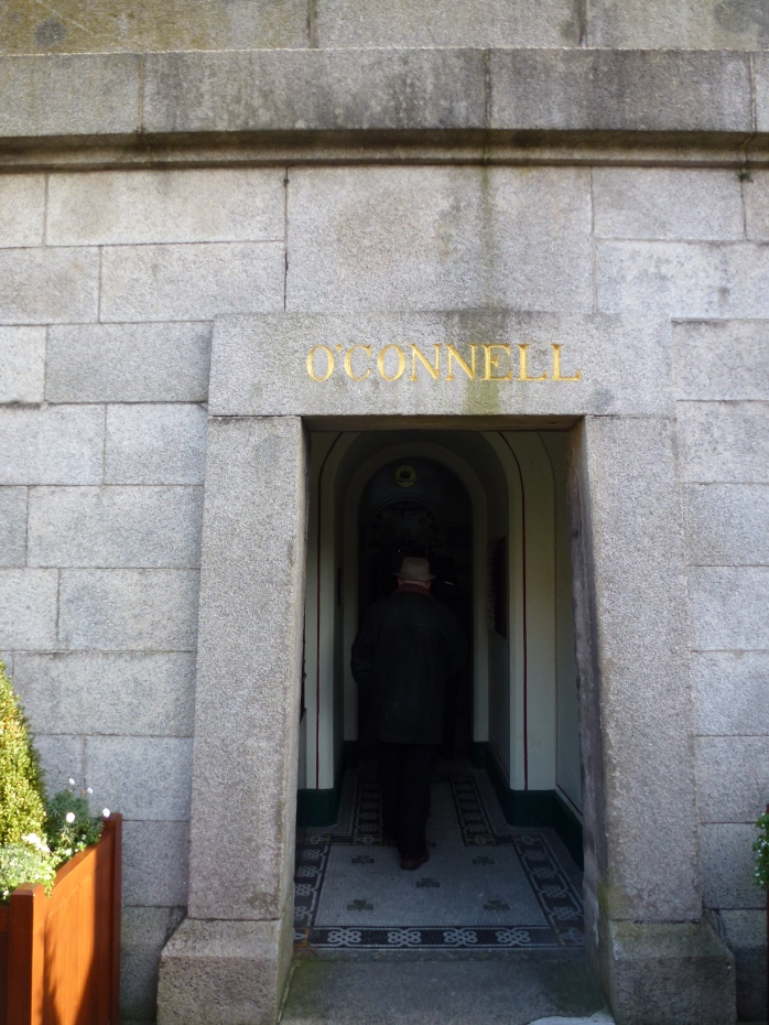 Entrance to O'Connell Crypt and Round Tower at Glasnevin  Photo: © Michael Fisher