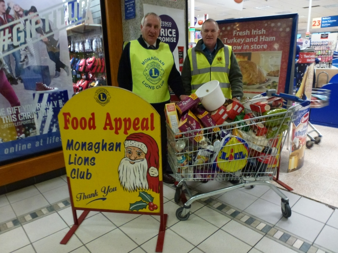 Food collection outside Tesco Monaghan  Photo:  © Michael Fisher