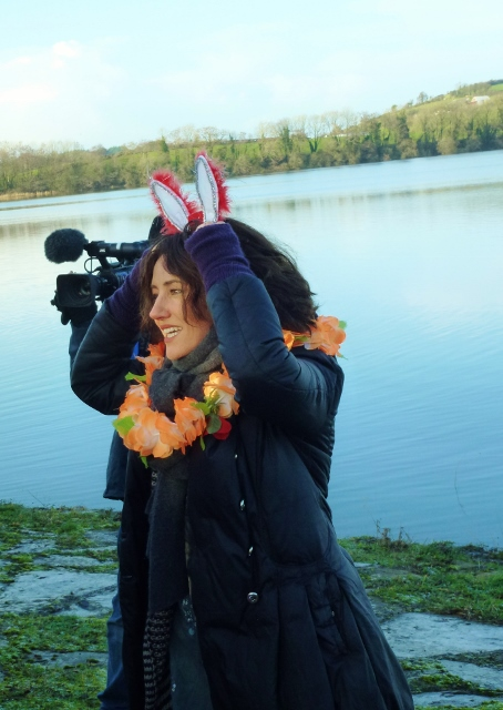 Orla Brady in Christmas spirit at Emy Lake  Photo: © Michael Fisher