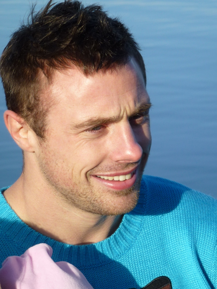 Tommy Bowe after his Christmas dip in Emy Lake  Photo: © Michael Fisher