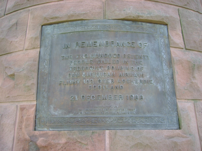 Plaque on Memorial Cairn, Arlington Cemetery  Photo: © Michael Fisher