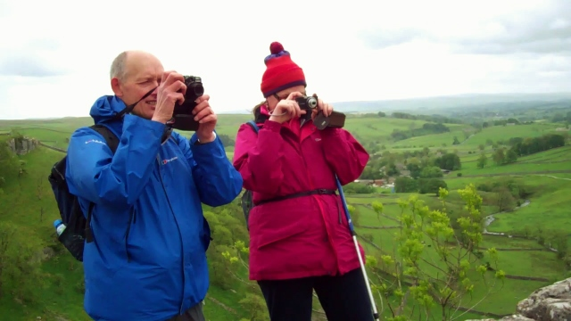 Howard Waldron & Evelyn Fisher, Malham Tarn May 2011 Photo: © Michael Fisher