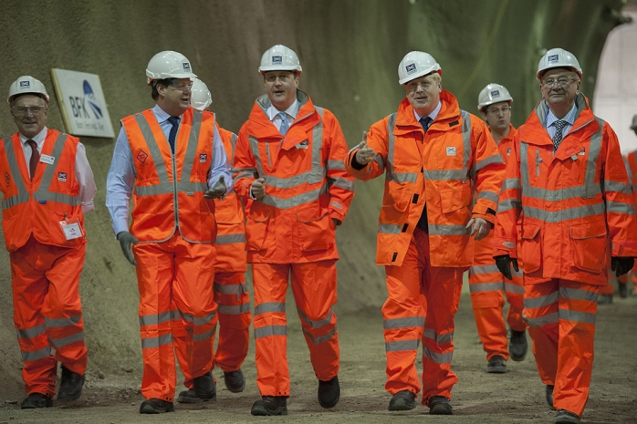 David Cameron visits Crossrail  Photo: gov.uk website