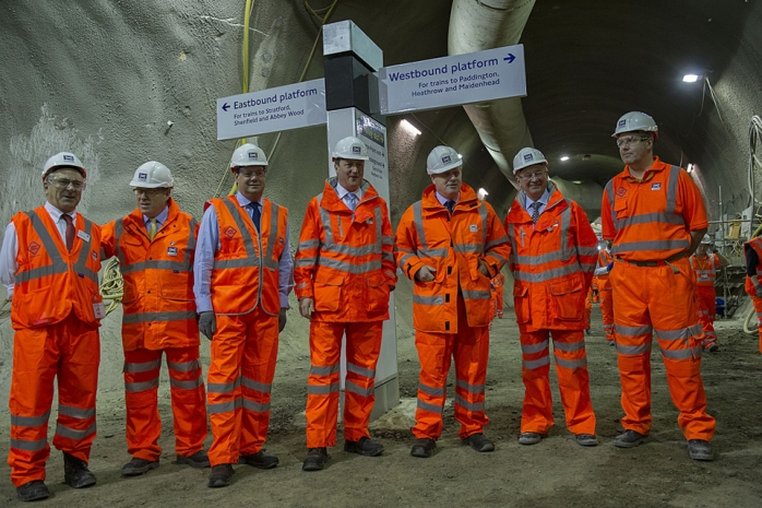 David Cameron & Boris Johnson visit Crossrail  Photo: gov.uk website