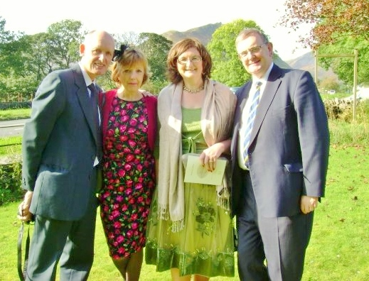 Howard, Marie, Evelyn & myself at a wedding in Ambleside 2009