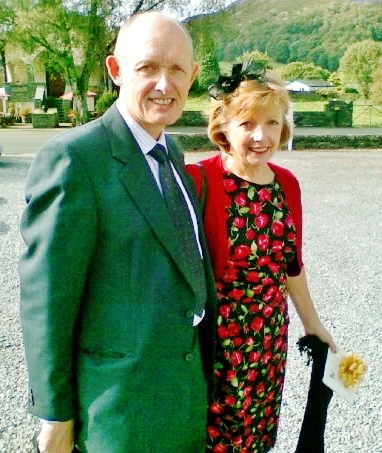 Howard and Marie at a wedding in Ambleside 2009