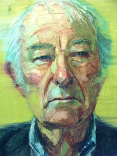 Seamus Heaney portrait by Colin Davidson 2013 Photo: © Michael Fisher