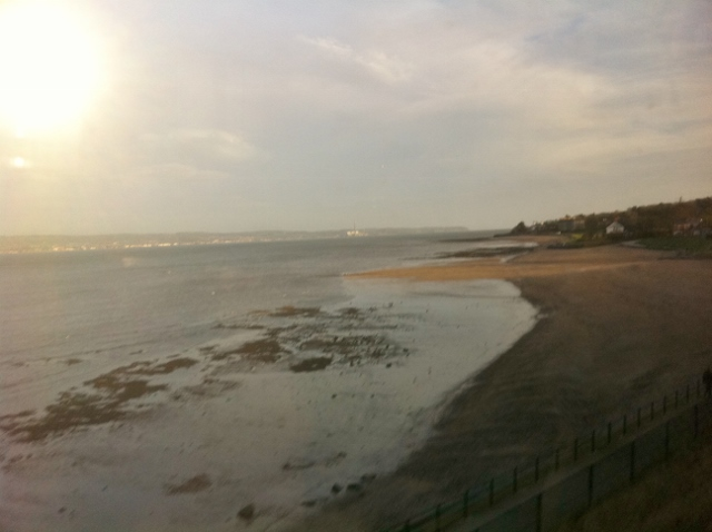 Beach at Seapark seen from train  Photo: © Michael Fisher