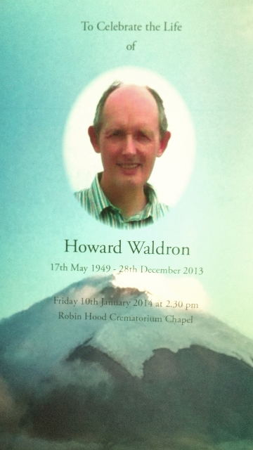 Order of Service: Howard Waldron RIP