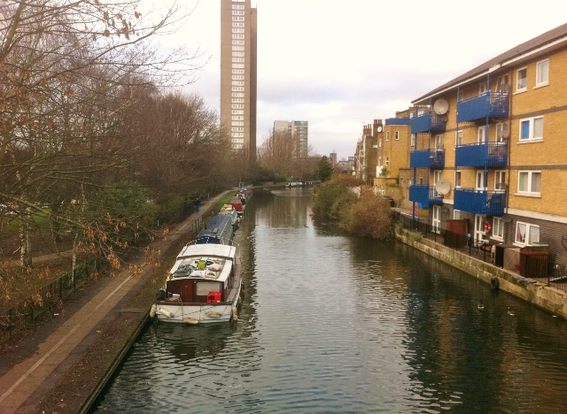 Towpath at the Paddington Arm, Grand Union Canal   Photo: © Michael Fisher