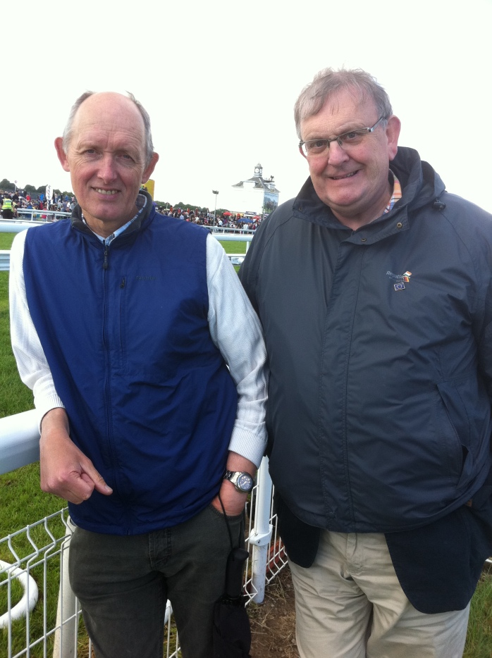 With Howard Waldron at York Racecourse, June 2013