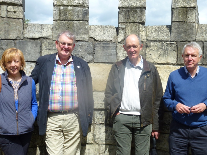 With Marie & Howard Waldron & Dave Ireland on the walls at York, where we parted for the last time in June 2013  Photo: © Evelyn Fisher