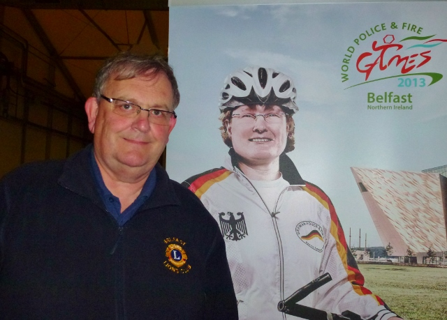 Michael Fisher was a volunteer at the World Police and Fire Games in NI 2013