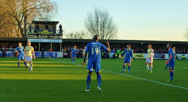 Will Antwi looks for the ball: AFC Wimbledon v Torquay  Photo: © Michael Fisher