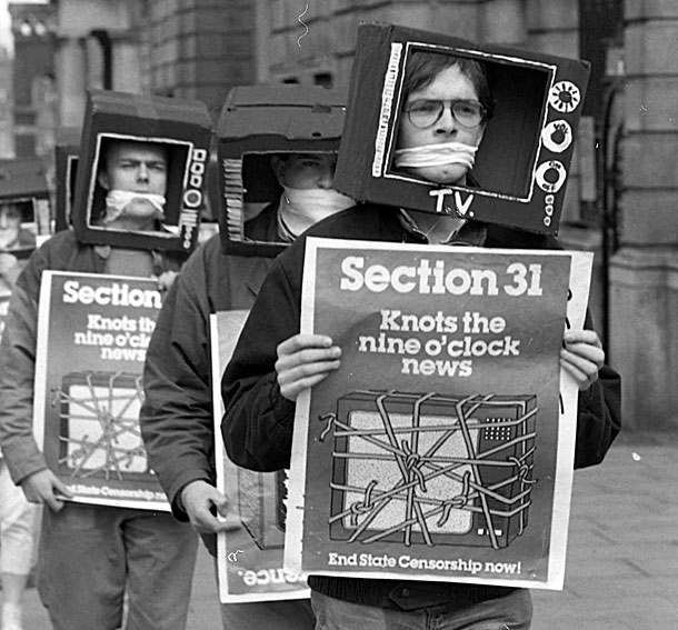 Anti-Section 31 protestors in Dublin  Photo: An Phoblacht