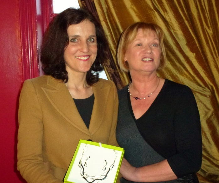 AEJ President Eileen Dunne and Secretary of State Theresa Villiers MP  Photo: © Michael Fisher