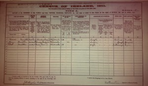 1911 Census Ballinode: Hamilton household