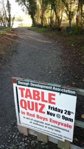 Ad for Table Quiz in aid of Emy Lough Walkway  Photo:  © Michael Fisher