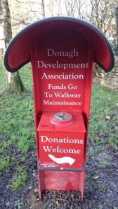 Donation box made by McCarron Engineering at Emy Lough Walkway, Emyvale  Photo:  © Michael Fisher