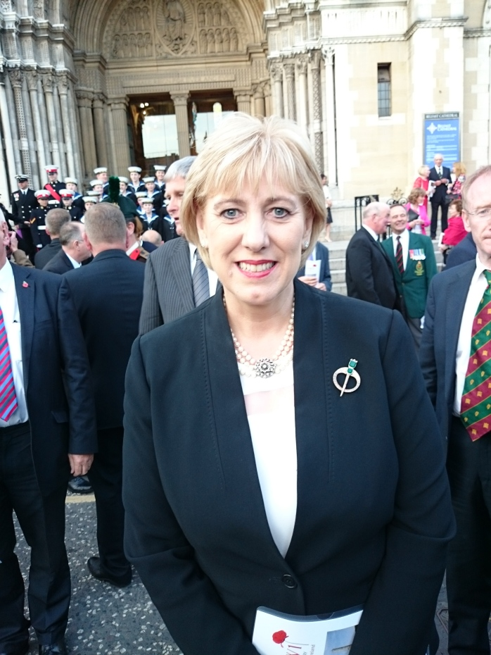 Minister for Arts, Heritage & Gaeltacht Heather Humphreys TD Photo: Sir John (Jack) Leslie in Caledon Photo:  © Michael Fisher