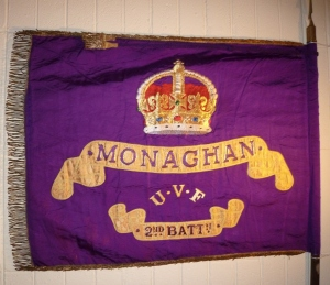 UVF Flag 2nd Bn Co.Monaghan: Monaghan Co.Museum Photo:  © Michael Fisher