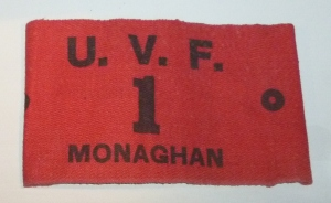 UVF 1st Bn Monaghan armband Photo:  © Michael Fisher