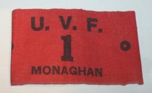 UVF 1st Bn Monaghan armband Photo:  © Michael Fisher