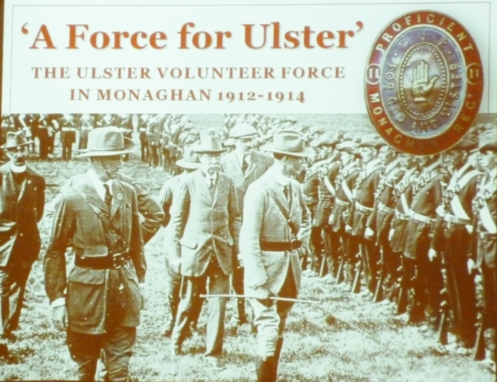 Quincey Dougan talk on UVF: Sir John Leslie inspects the UVF at Glaslough