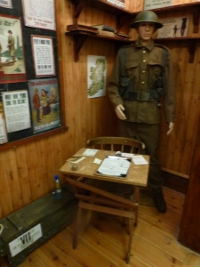 Recruiting office display, Cavan County Museum Photo:  © Michael Fisher
