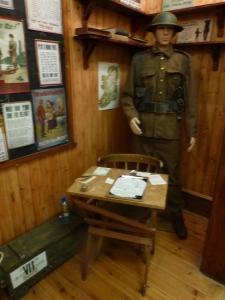 Recruiting office display, Cavan County Museum Photo:  © Michael Fisher