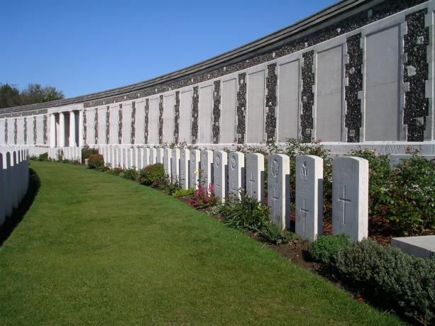 Tyne Cot Memorial, Belgium Photo: CWGC website
