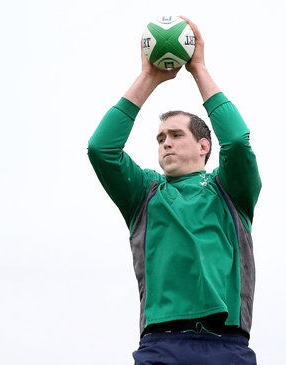 Devin Toner in training for Ireland  Photo: IRFU