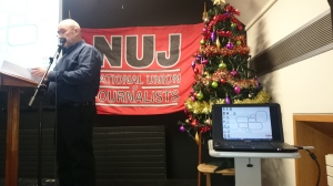 NUJ Photographer Kevin Cooper addresses seminar  Photo: © Michael Fisher