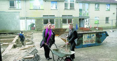 Sarah McHugh, Enniskillen Castle and Cllr Bert Johnston, Cahir, Fermanagh District Council  Photo: Impartial Reporter