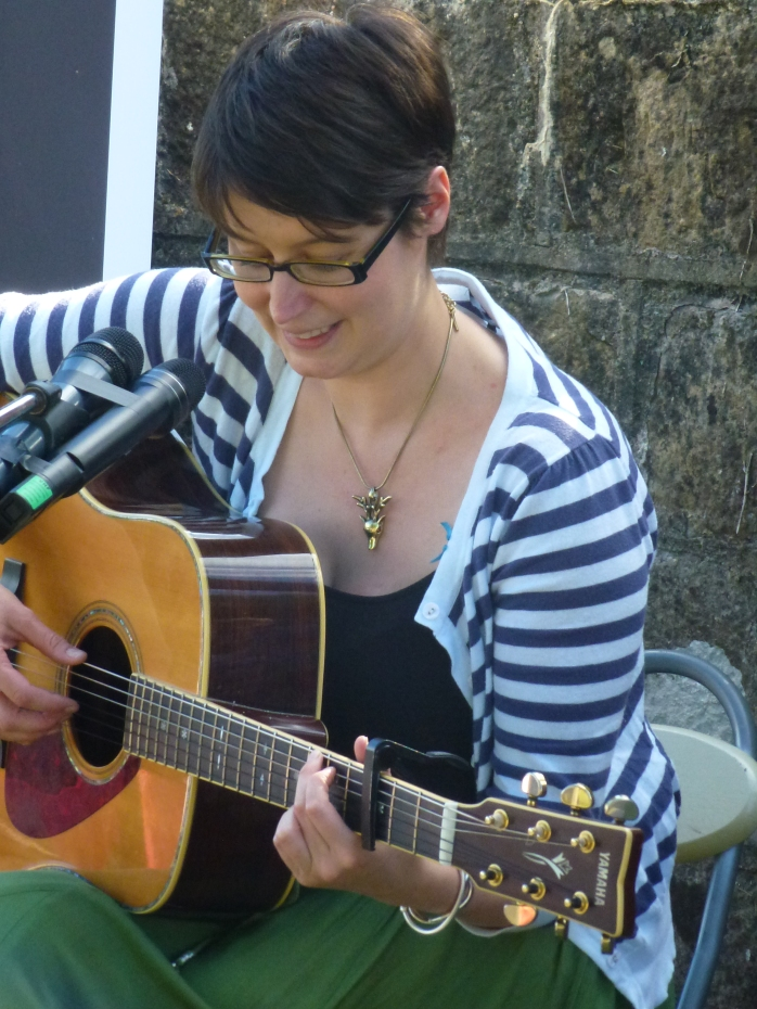 Edelle McMahon at the Blue Bridge, Emyvale, August 2013  Photo: Michael Fisher