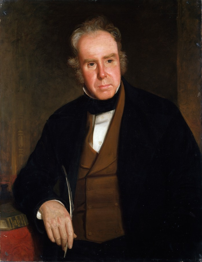 JJ Slattery oil portrait of William Carleton in National Gallery of Ireland