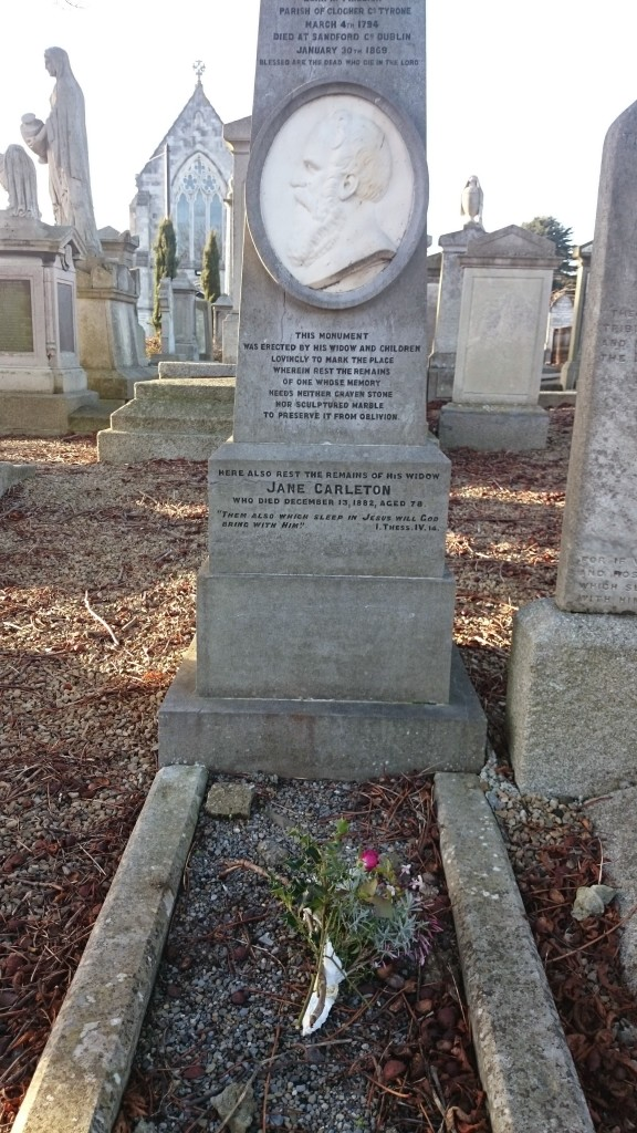 Grave of William Carleton at Mount Jerome Cemetery, Dublin  Photo: © Michael Fisher
