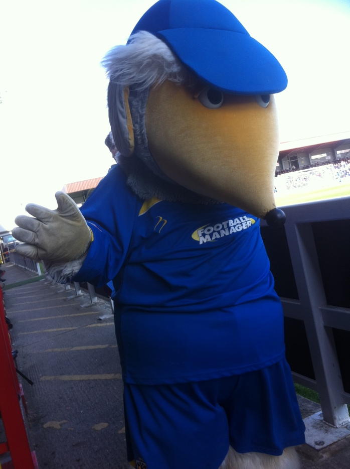 Haydon the AFC Wimbledon mascot  Photo:   © Michael Fisher