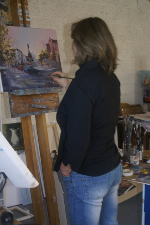 Kate Beagan in her studio Photo: facebook
