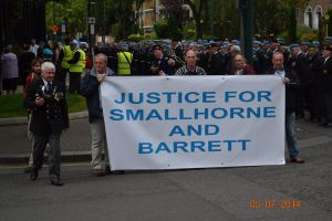 Banner at head of Parade to US Embassy in Ballsbridge July 2014