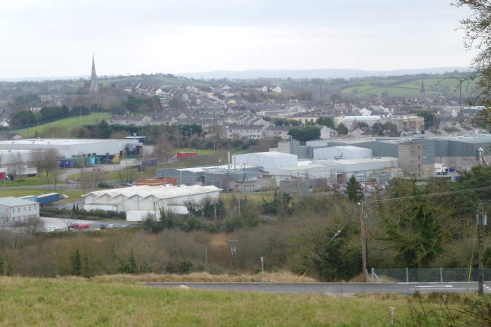 View of Carrickmacross from Nafferty  Photo: © Michael Fisher