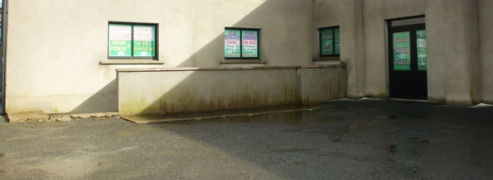 Ground floor unit in Carrickmacross proposed for conversion into a private members gaming club Photo: © Michael Fisher