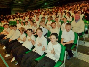 St Joseph's Boys NS Carrickmacross with Principal Paul Fitzpatrick   Photo: © Michael Fisher